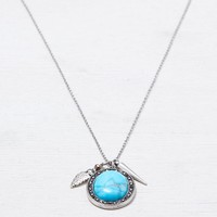AEO Turquoise Charm Necklace , Silver | American Eagle Outfitters