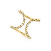 Louise Et Cie Micro Pave Double Bar Ring | Dillards