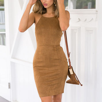 Body-Conscious Slip Dress