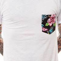 Fly Society The Viva La Tropics Pocket Tee in White : Karmaloop.com - Global Concrete Culture
