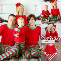 Christmas Children Adult Family Matching Outfits Xmas Toddler Kids Girl Boy Christmas Pyjamas Sleepwear Pajamas Set 2-6Y S-2XL