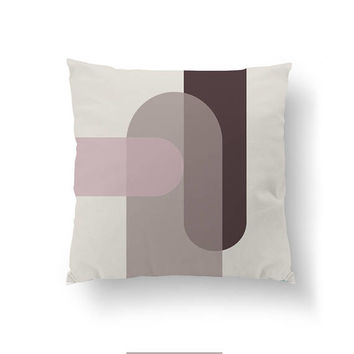Simple Decor, Brown Purple Pastel, Modern Design, Home Decor, Cushion Cover, Textured Art, Decorative Pillow, Abstract Shapes, Throw Pillow
