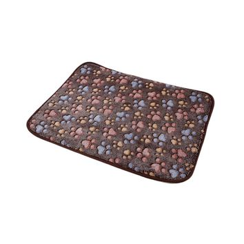 Dark Coffee Bamboo Pet Dog Double-sided Mat Summer Puppy Cooling Mat Pad Bed Blanket