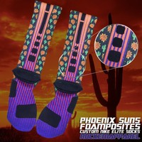 Phoenix Suns Foamposite Custom Nike Elite Socks | Rock 'Em Apparel