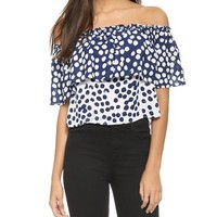 Rebecca Minkoff Dev Dotted Tiered Top