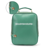 Women's Hot Casual Preppy Style PU Leather Backpack Handbag Shoulder Bag Retro