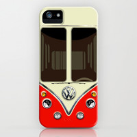 Sale for charity! Red VW volkswagen mini van bus kombi camper iphone 4 4s 5 5c & galaxy s4 case Art Print by Three Second