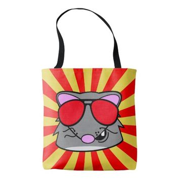 Super Duper Rad Rat Tote Bag