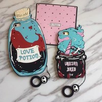 Magical love magic drugs couple mobile phone case for iPhone X 7 7plus 8 8plus iPhone6 6s plus -171123