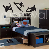 Vinyl Wall Sticker Decal Art - Born To Ride