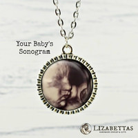 Ultrasound Necklace - Mommy to Be - Sonogram Pendant