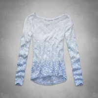 ombre shine sweater