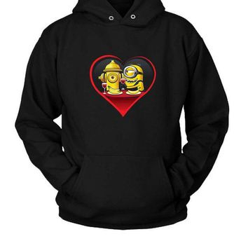 CREYP7V Minion In Love Hoodie Two Sided