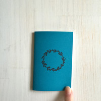 Small Notebook: Wreath, Teal, Stocking Stuffer, Stocking Stuffers, Favor, Fun, Unique, For Her, For Him, Gift, Journal, Notebook, NN633