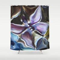 Purple Butterfly Lucine Designs Shower Curtain by Lucine