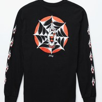 Obey Spider Finger Long Sleeve T-Shirt - Mens Tee - Black