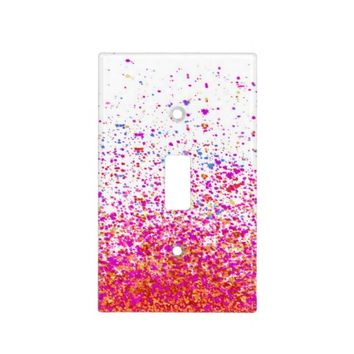 light switch cover - infinity in pink