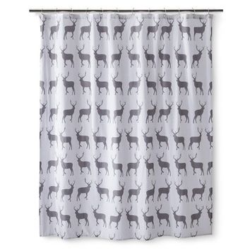 Anorak Stag Shower Curtain - Gray