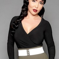 Pinup Couture Gia Top in Black