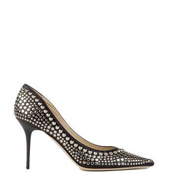 JIMMY CHOO Agnes leather pumps with studs
