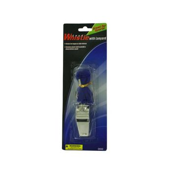 Metal Whistle With Lanyard (pack of 24)