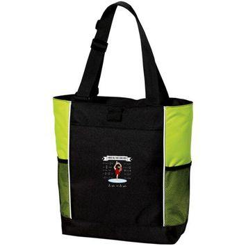 DCCKJY1 Figure Skating Physics Colorblock Zipper Tote Bag