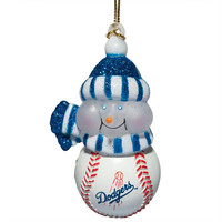 Los Angeles Dodgers - Logo All-Star Light-Up Snowman Ornament