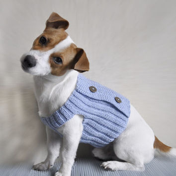 Knit and Crochet Dog Sweater PATTERN  / PDF format Pattern /  Dog clothes pattern / Knit Pattern / Crochet pattern / XS size