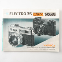 Yashica Electro 35 GSN GTN Instructions Manual | eBay