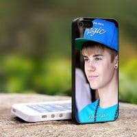 Justin Bieber Wear a Head - For iPhone 5 Black Case Cover