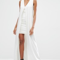 Lavish Alice Chiffon Overlay Mini Dress
