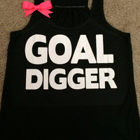 Goal Digger - Racerback Tank - Inspirational Tank - Womens Workout Tank - Ruffles with Love
