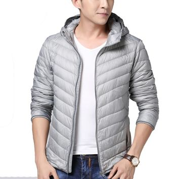2016 Winter Jacket Men 80% white Duck down jacket men feather quilted jacket mens Ultralight Warm Chaqueta Hombre Plus SizeYA070