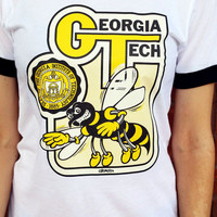 Vintage Georgia Tech Tee / 70s / Yellow Jackets