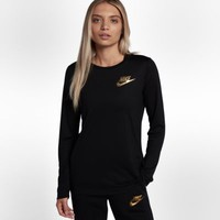 Nike Sportswear Essential Metallic Women's Long Sleeve Top. Nike.com