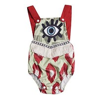 Newborn Baby Girls Clothes Tassels Bodysuit Sleeveless Cute Backless Jumpsuit Outfit Clothing Baby Girl Sunsuit 0-24M