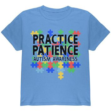 Autism Awareness Practice Patience Youth T Shirt