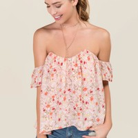 Pandora Off The Shoulder Floral Bustier Top