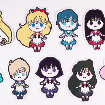 Sailor Moon Chibis Sticker Pack
