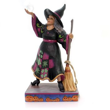 Jim Shore The Witch Is In Halloween Figurine