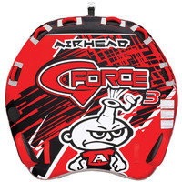 AIRHEAD G-Force 3 Inflatable Triple Rider Towable D Shaped Deck Tube