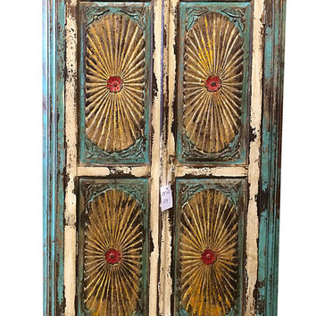 Meditation Yoga Decor Frame Antique Chakra Cabinet Doors Classic Indian Home  Decor Idea