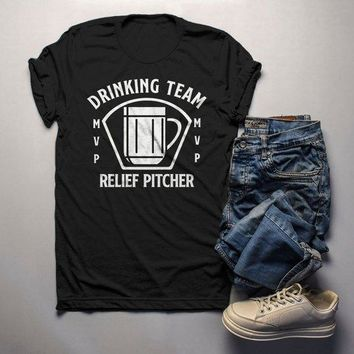 5148d067b Men's Funny Beer T Shirt Relief Pitcher Shirt Drinking Shirts St Patricks  Day Graphic Tee Drinking