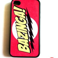 Bazinga Iphone Case Big Bang Theory iPhone 4 by KeepCalmCaseOn