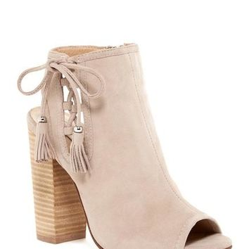 Legend Peep Toe Suede Heels - Chinese Laundry