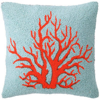Phi Coral Red Hook Pillow