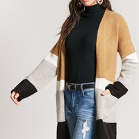 Colorblock Longline Cardigan