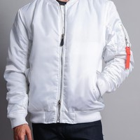 Solid Color MA-1 Bomber Jacket