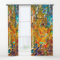 Artist Color Wheel Window Curtains by Sheila Wenzel
