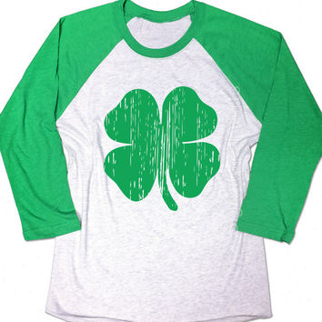 St Patrick's Day Lucky Shamrock Shirt. Baseball Raglan. Ireland Pub Drinking Shirt. Irish Drinking Shirt. Lucky Shirt. Shamrock. Party shirt